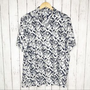 {Tommy Bahama} 100% Silk Mens Button Down XL